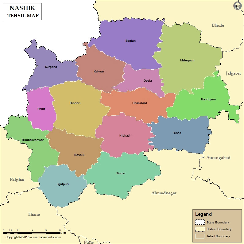 Nashik District Map